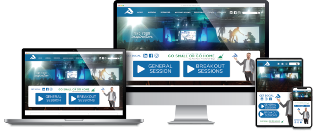 Honest AV Event Platform on 3 devices