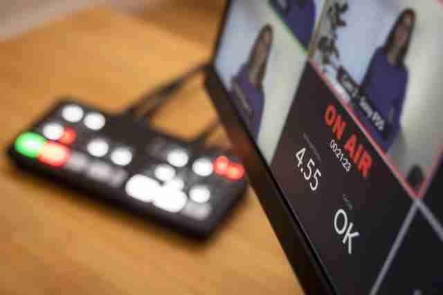Blackmagic ATEM switcher with on air caption